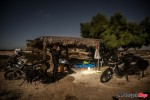 Motorcycle Pit Stop Under a Hut in Baja