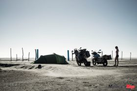 Setting up a Tent in Baja