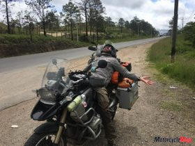 Motorcycle Riding on the Honduras Roads in Central America