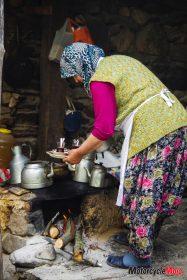 Preparing Tea Over a Hot Stove