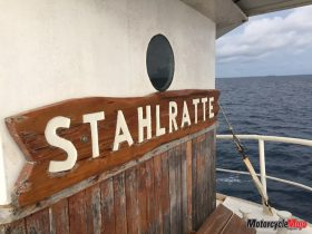 Stahlratte Sign on A Boat in Central America