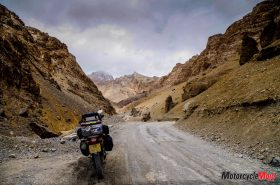Motorcycle Riding Through Ledak