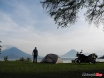Camping at Lake Atitlan in Guatemala