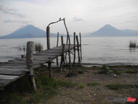 A Small Dock on Lake Atitlan in Guatemala