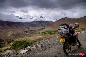 Motorcycle Riding Through Leh Pass in India