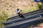 Travelling on a Highway in Spain on a Motorcycle