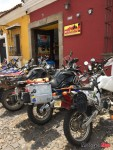 Reaching a Motorcycle Camp in Antigua, Guatemala