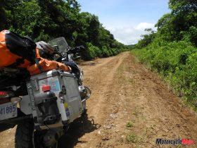 Motorcycle Riding Through Rincon De Viejo
