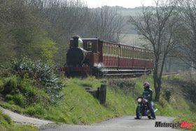 A Train Riding Through The Isle of Man