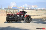 2018 Indian Bobber at Santa Monica Pier