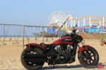 2018 Indian Bobber in Front of Swings