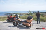 Stopping in Front of a Village in Quebec