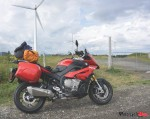 Riding Past Windmills in Quebec