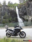 Riding Past a Waterfall in Jordan River