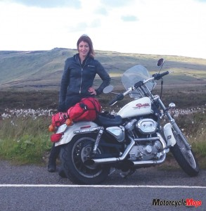 Deb Phoenix Travelling with Her Motorcycle