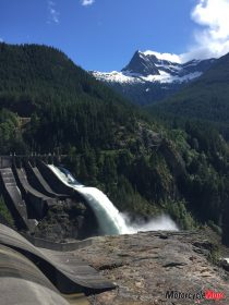 Hydraulic Dams by Columbia River