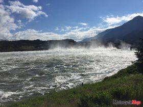 A Raging River by Hydraulic Dams in Oregon