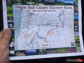 A Map of Oregon Back County Discovery Route