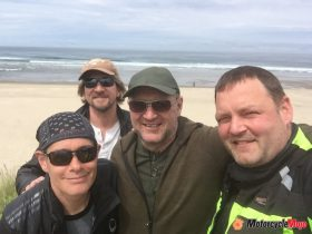 Stopping for a Photo by a Beach in Oregon