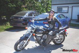 Sarah Bankert Getting Ready to Ride