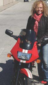 Motorcyclist Tammy Blaze