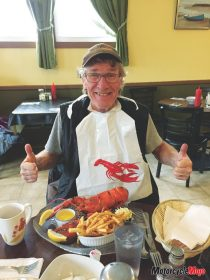 Eating Lobster in Quebec