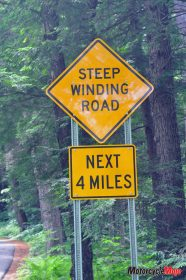 Winding Road Sign in New Hampshire