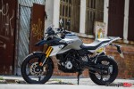 The 2018 BMW G310GS In Front of a Building