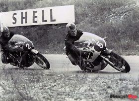 Bill Ivy Riding a Yamaha V4