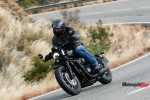 Riding the 2018 Triumph Bobber Black on a Highway