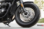 Front Wheel of the 2018 Triumph Bobber Black