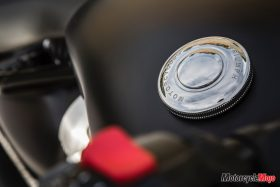 Gas Tank Lid of the 2018 Triumph Bobber Black