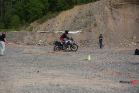 Riding Over a Log At the GS Trophy Qualifier
