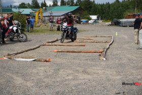 Trailing Over Log Hurdles at the GS Trophy Qualifier