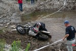 Picking Up A Motorcycle in Water At the GS Trophy Qualifier