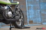 The Kawasaki S1C on a kickstand
