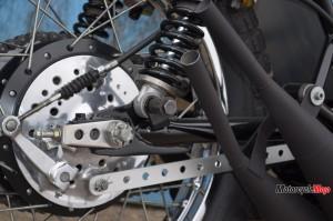 The Rear Wheel of The Kawasaki S1C