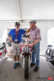 Jim Allen with a Suzuki