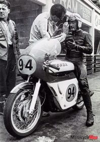 Mike Manley on a Honda 500