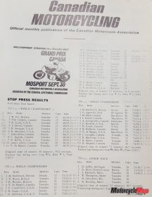 The 1967 Canadian GP Results