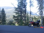 The BMW F650GS starts out early from Nakusp on the return to the west coast