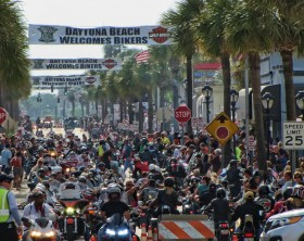 Bike Week on Main Street in Daytona Beach Saturday, March 9, 2013.