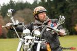 Bill Cameron riding his Custom Motorcycle