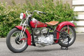 Red Crocker Motorcycle