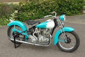 Blue Crocker Motorcycle