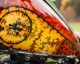 Custom Motorcycle Paint Design by Bill Cameron