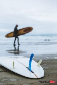 Preparing to Ride Pacific Ocean Waves