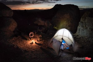 Camping in the City of Rocks