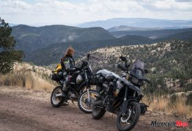 Motorcycle Riding in the Desert in New Mexico