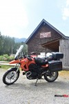 The F650GS rests at Kilby Historic Site in Harrison Mills